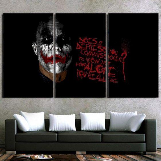 Miserable Empty Life Of Joker 3pcs Wall Art Canvas Print