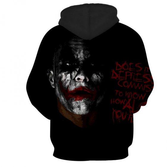 Miserable Empty Life Of Joker Design Full Print Hoodie