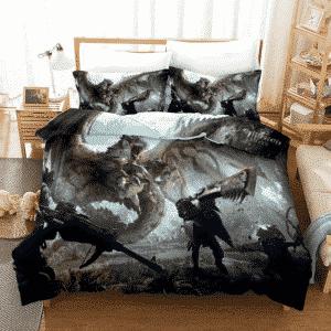 Monster Hunter World Slaying Flying Wyvern Dope Bedding Set