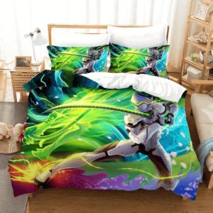 Overwatch Genji Cyborg Ninja Neon Green Epic Bedding Set