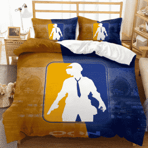 PUBG Player Minimal Art Classic Yellow Blue Bedding Set