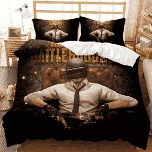 PUBG Player Sitting Like A King Dope Black Bedding Set