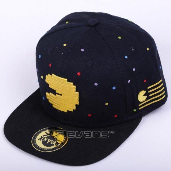 Pacman Symbol All Black Streetstyle Snapback Baseball Hat Cap