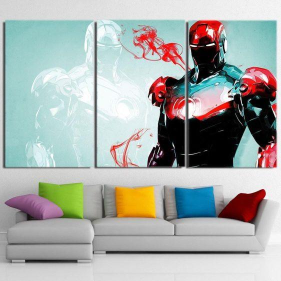 Powered Exoskeleton Iron Man Unique 3pcs Canvas Print