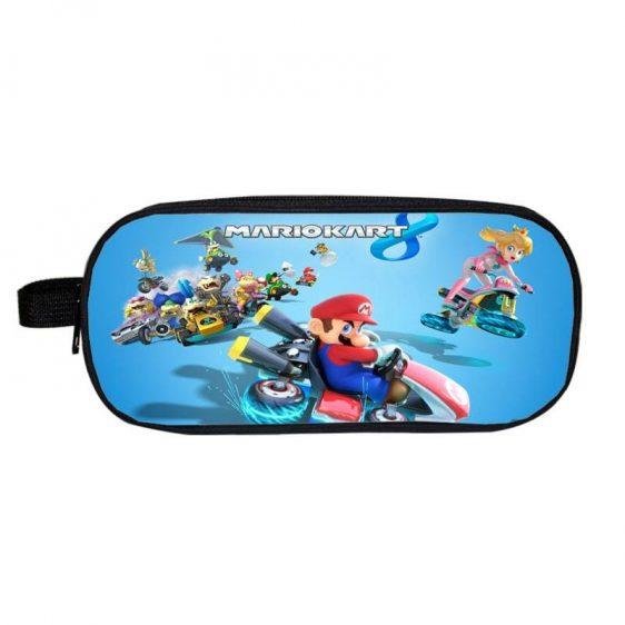 Super Mario MarioKart Game Characters Blue Pencil Case
