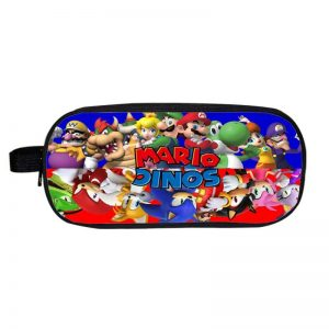 Mario And Sonic Upside Down Character Design Pencil Case