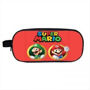 Super Mario Best Brothers Mario And Luigi Red Pencil Case