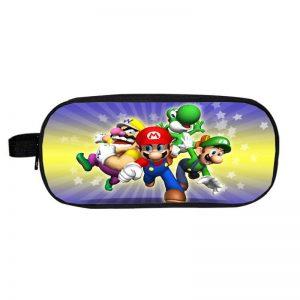 Super Mario Yoshi Wario Luigi And Mario Chase Pencil Case