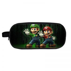 Super Mario Brothers Cool Mario Luigi Matrix Pencil Case