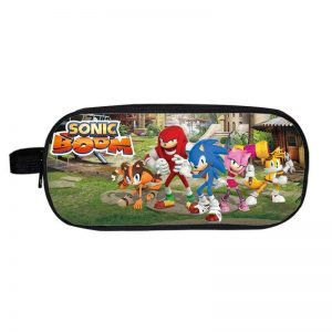 Sonic Boom Tails Amy Knuckles Sonic Fighting Pose Pencil Case