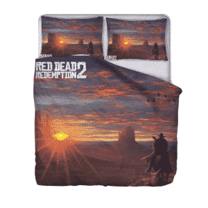 Red Dead Redemption II Cowboy Sunset Classic Bedding Set