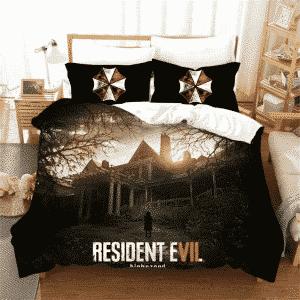 Resident Evil Biohazard Girl Creepy House Bedding Set