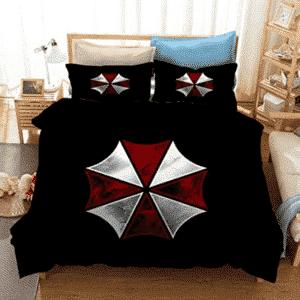Resident Evil Umbrella Corp Logo Pitch Black Bedding Set
