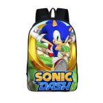 Sega Sonic Dash Gold Rings 3D School Backpack Bag