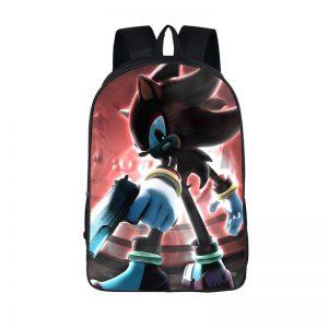 Shadow The Hedgehog Dark Pistol Gun Backpack Bag