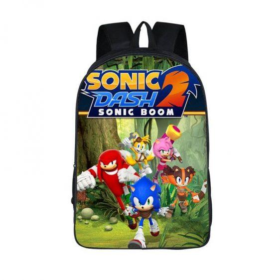 Sonic Dash 2 Sonic Boom Epic 3D Race Backpack Bag