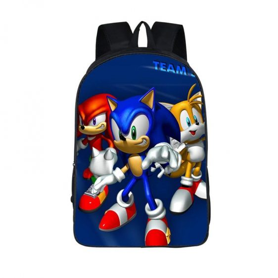 Sonic Heroes The Epic Team Sonic Blue School Backpack Bag
