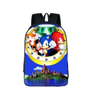 Sonic Tails Knuckles The Hedgehog Dope Backpack Bag