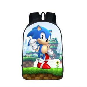 Sonic The Hedgehog 3D Greenhill Zone School Backpack Bag