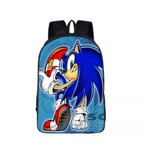 Sonic The Hedgehog Cool Back Pose Blue Backpack Bag