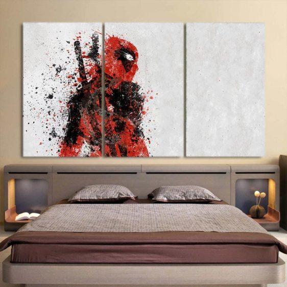 Special Unique Deadpool Design 3pcs Wall Art Canvas Print