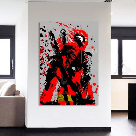 Special Unique Deadpool Portrait Design 1pcs Canvas Print
