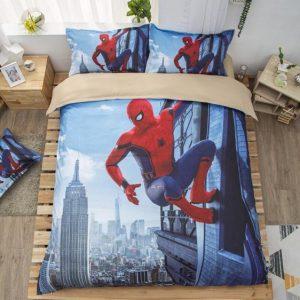 Spider-Man Homecoming Wall Climb City View Bedding Set