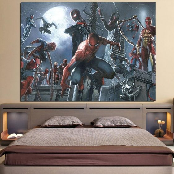 Spider-Man And The Villains 1pcs Wall Art Canvas Print