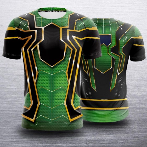 Spider-Man Cool Green Iron Spider Armor Suit Costume T-Shirt