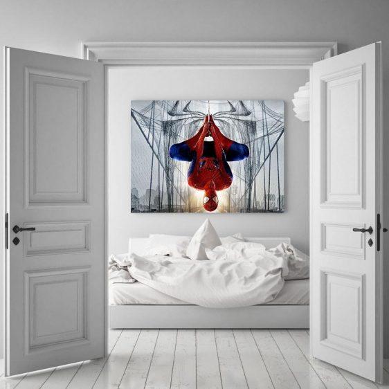 Spider-Man Rotate Mode 3D Design 1pcs Wall Art Canvas Print
