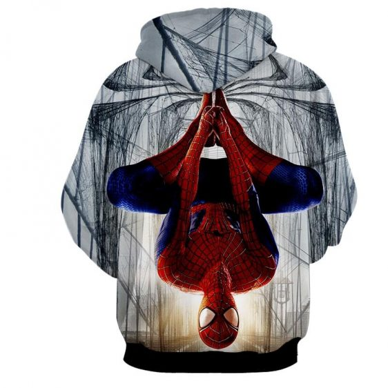 Spider-Man Rotate Mode Full Print Design Cool Hoodie