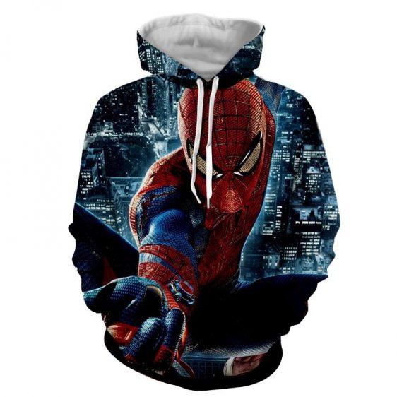 Spider-Man Super Strength 3D Design Full Print Hoodie