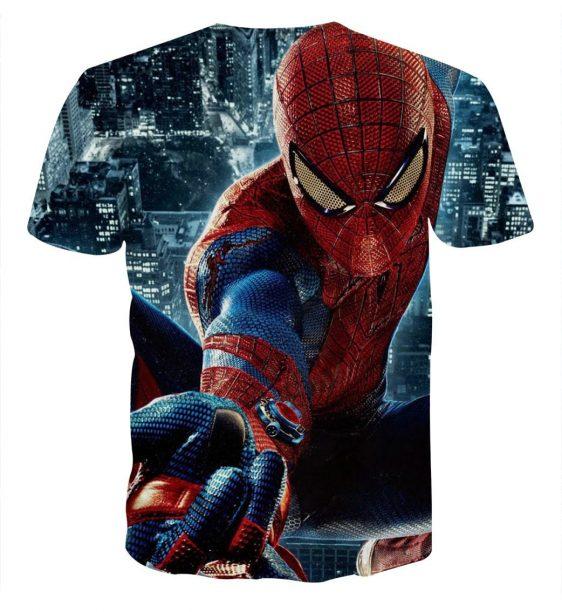 Spider-Man Super Strength 3D Design Short Sleeves T-Shirt