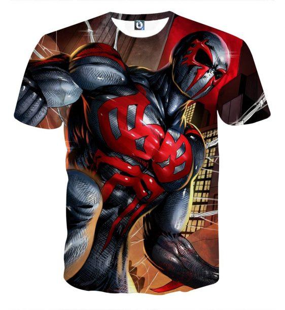 Spider-Man Villain Kaine Full Print Short Sleeves T-Shirt