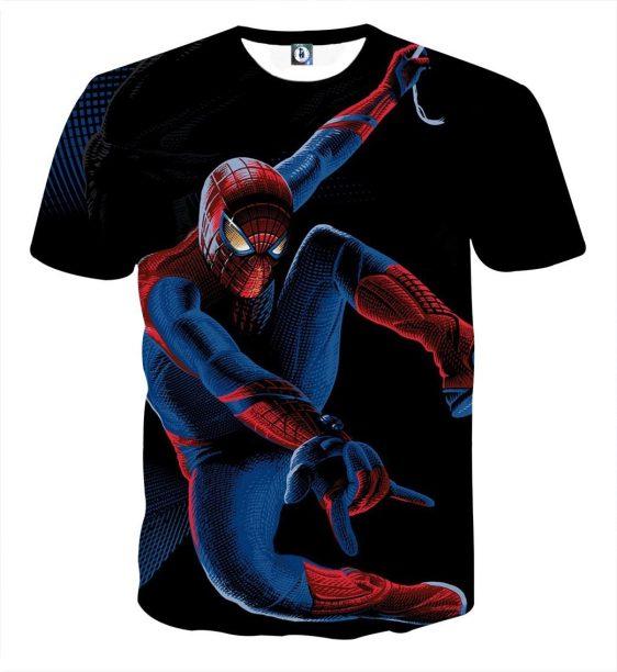 Spiderman Perfect Balance Design Full Print T-Shirt