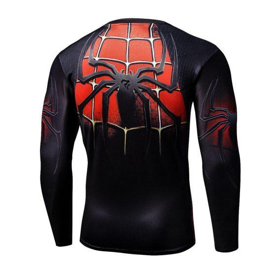 Spiderman Superhero Long Sleeves 3D Print Compression T-shirt