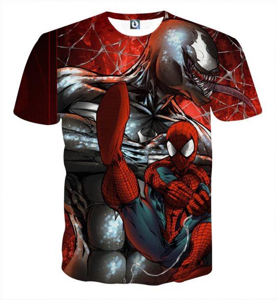 Spiderman Venom Web Villain Design Full Print T-Shirt
