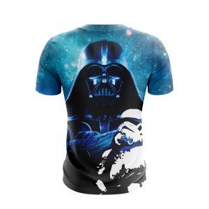 Star Wars Darth Vader & Stormtrooper Design Blue T-Shirt