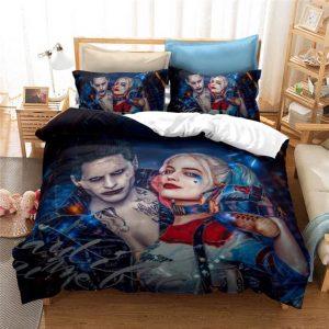 Suicide Squad Joker And Harley Quinn Dope Bedding Set