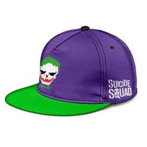 Suicide Squad The Joker Cool Green And Purple Snapback Hat Cap