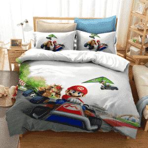 Super Mario Kart Mario Luigi Bowser Racing Bedding Set