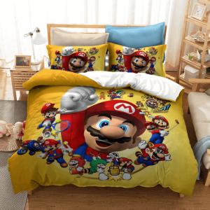 Super Mario Mario Multiverse Awesome Yellow Bedding Set