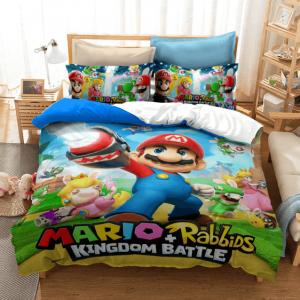 Super Mario Rabbids Kingdom Battle Charging Up Bedding Set