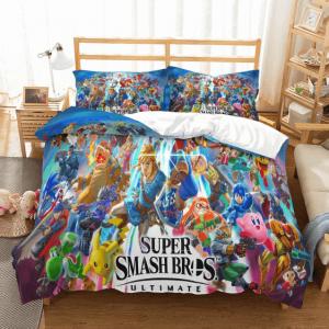 Super Smash Bros Ultimate Main Characters Bedding Set
