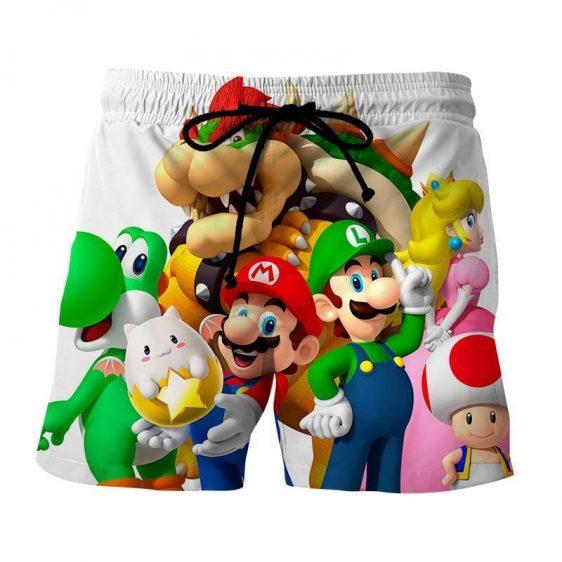 Super Mario Bros Luigi Bowser Peach Princess Dope Shorts
