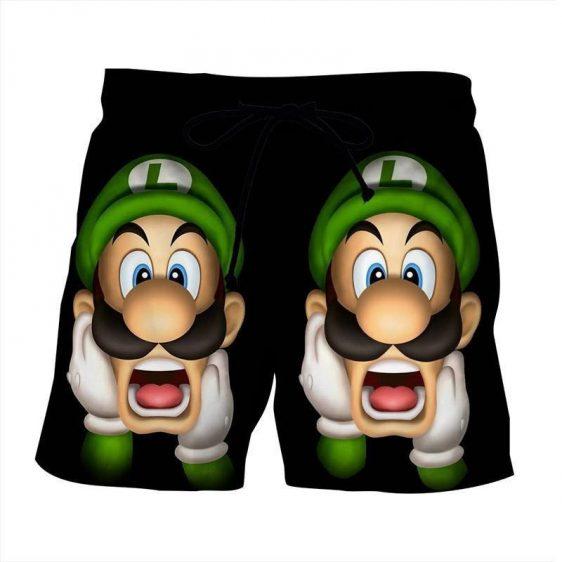 Super Mario Bros Luigi Frighten Funny Gaming Design Shorts