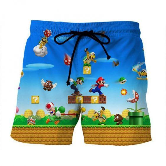 Super Mario Bros Luigi Monster Scene Vibrant Game Shorts
