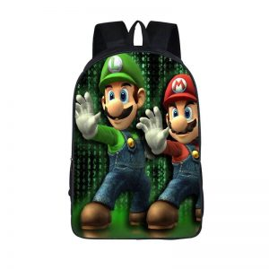 Super Mario Brothers Mario Luigi Cool Backpack Bag