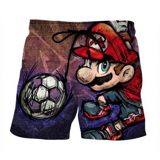 Super Mario Cartoon Sketch Cool Hip-Hop Design Summer Shorts