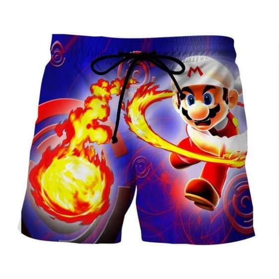 Super Mario Fire Flower Upgrade Urban Wear Style Shorts